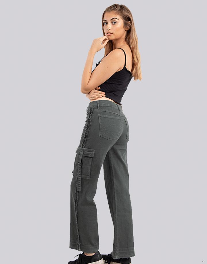 Buffalo Chile - Buffalo Flair Jeans Gris Mujer 2