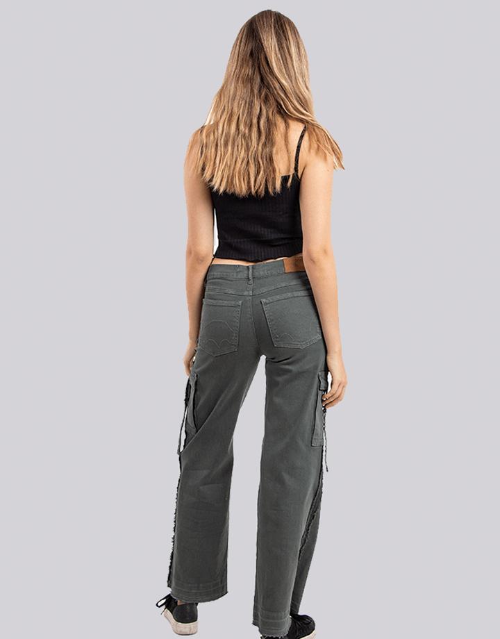Buffalo Chile - Buffalo Flair Jeans Gris Mujer 3