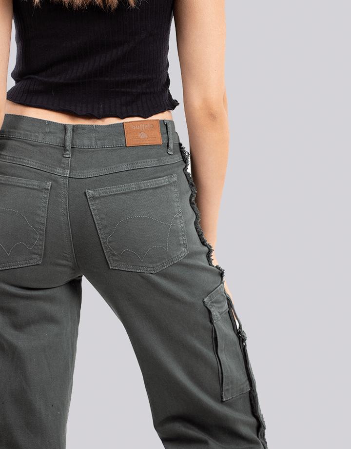 Buffalo Chile - Buffalo Flair Jeans Gris Mujer 4