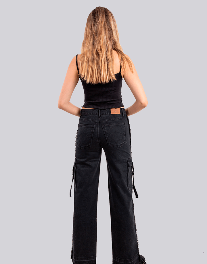 Buffalo Chile - Buffalo Flair Jeans Negro Mujer 3