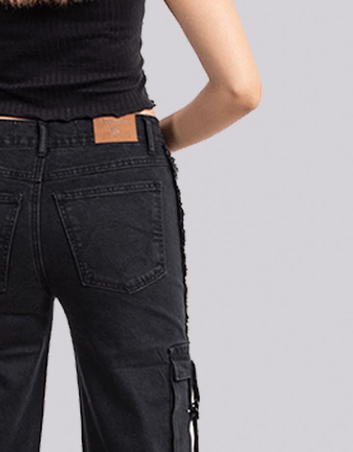 Buffalo Chile - Buffalo Flair Jeans Negro Mujer 4