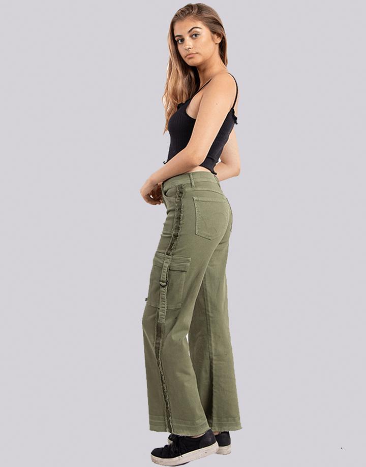Buffalo Chile - Buffalo Flair Jeans Verde Mujer 2