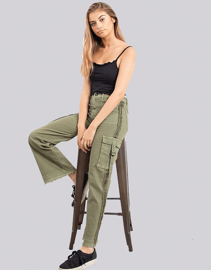 Buffalo Chile - Buffalo Flair Jeans Verde Mujer 3