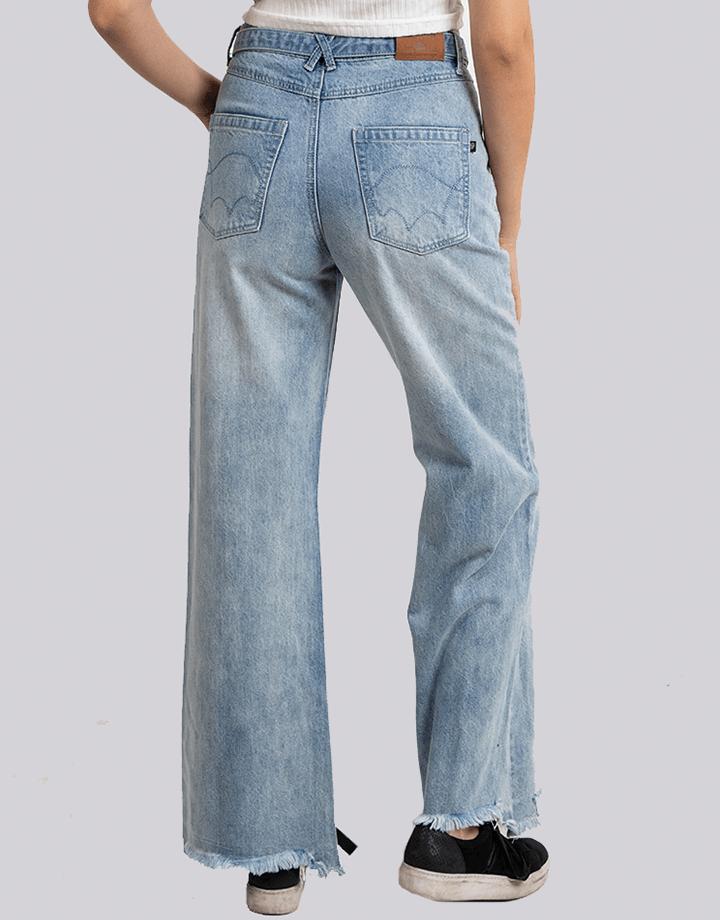 Buffalo Chile - Buffalo Frayed Jeans Celeste Mujer 3