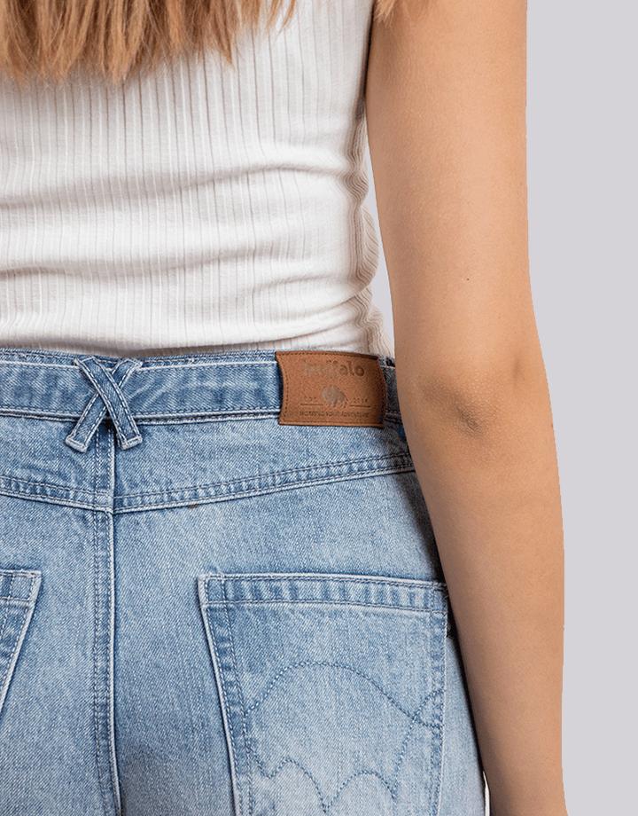 Buffalo Chile - Buffalo Frayed Jeans Celeste Mujer 5