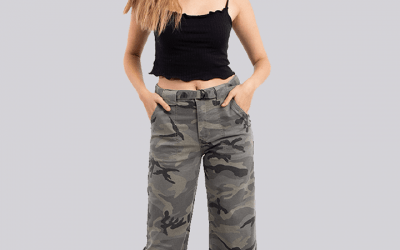 Frayed Jeans Militar Mujer