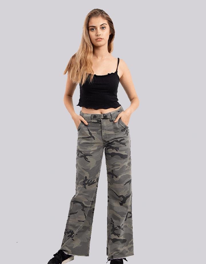 Buffalo Chile - Buffalo Frayed Jeans Militar Mujer 1