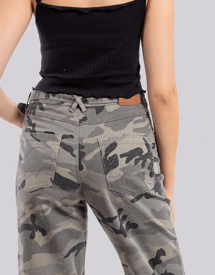 Buffalo Chile - Buffalo Frayed Jeans Militar Mujer 2
