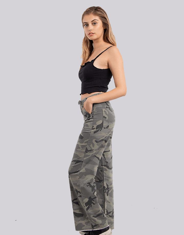 Buffalo Chile - Buffalo Frayed Jeans Militar Mujer 3