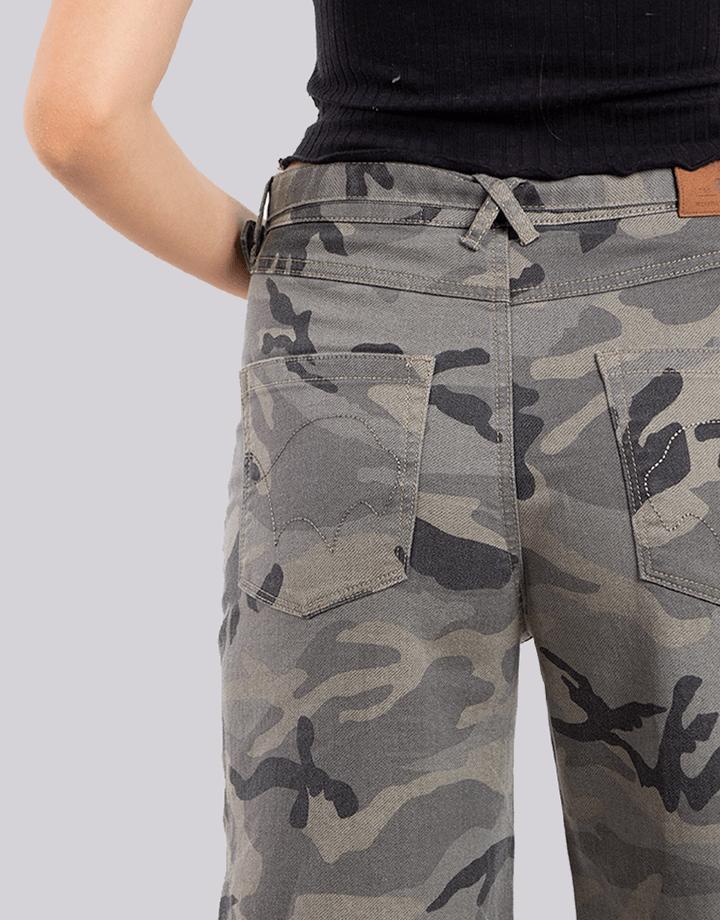 Buffalo Chile - Buffalo Frayed Jeans Militar Mujer 4