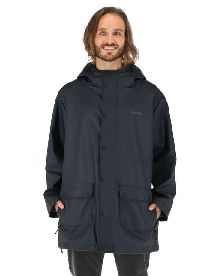 Buffalo Chile - Raincoat Hombre Negro 2